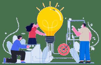 Ideia Durante Trabalho Em Equipe Mobile